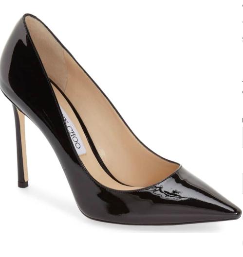 Jimmy Choo Black Patent Heels