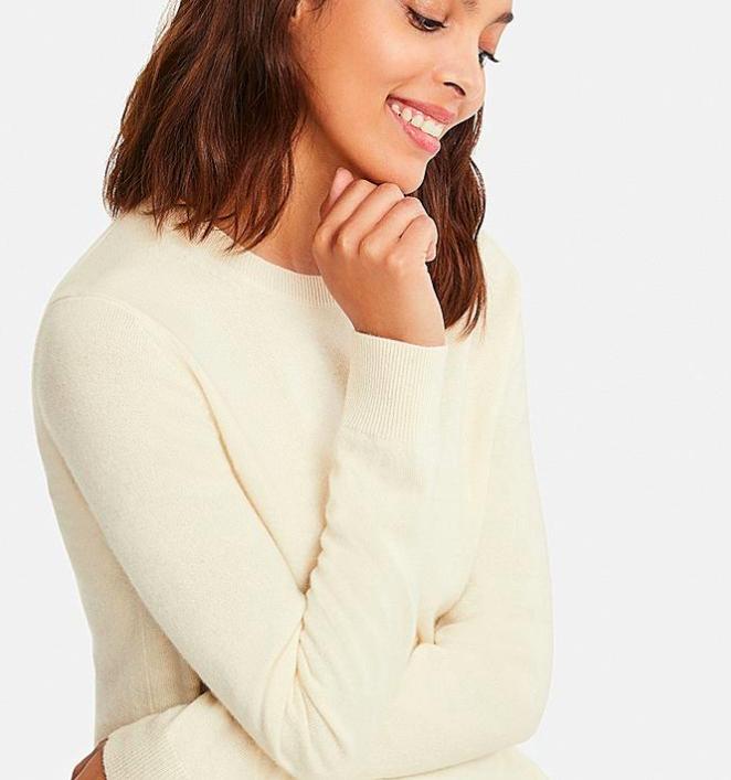 Crew neck sweater in cream