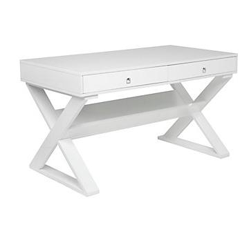 Copy of White Lacquer Desk Z Gallerie