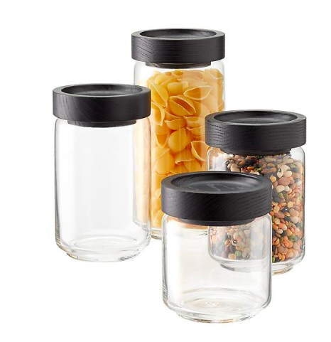 Copy of BLACK LID GLASS PANTRY CONTAINERS