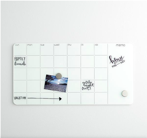 Copy of monthly Glass magnetic dry erase board