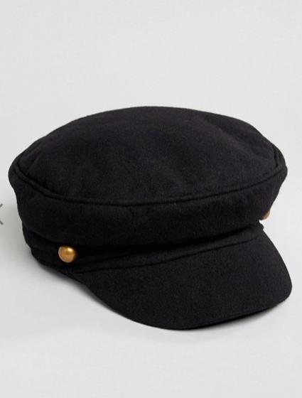 baker boy hat in black