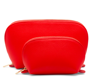Cuyana Travel Makeup Cases in red