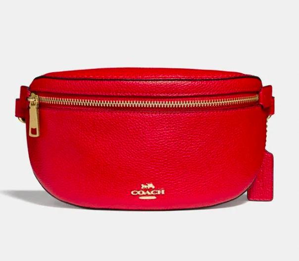 Coach red belt bag