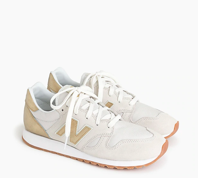 white and gold new balance