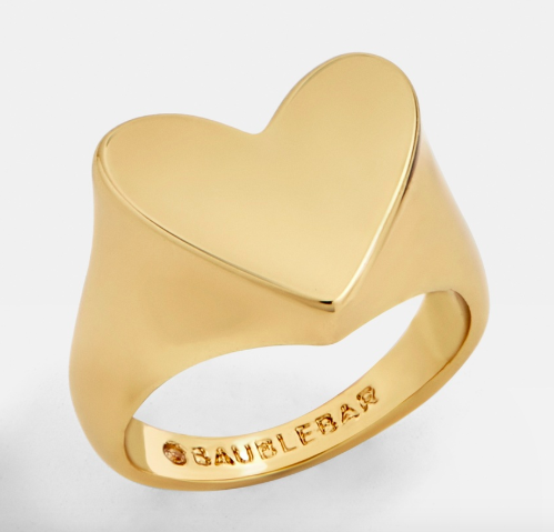 Baublebar - Heart Pinky Ring