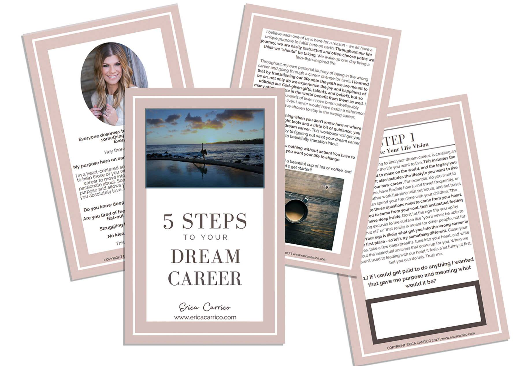 FREE WORKBOOK:5 Steps to Your Dream Career -