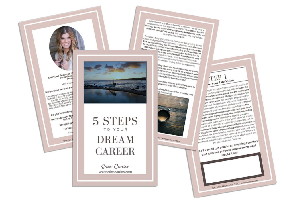 FREE WORKBOOK - 5 STEPS TO YOUR DREAM CAREER