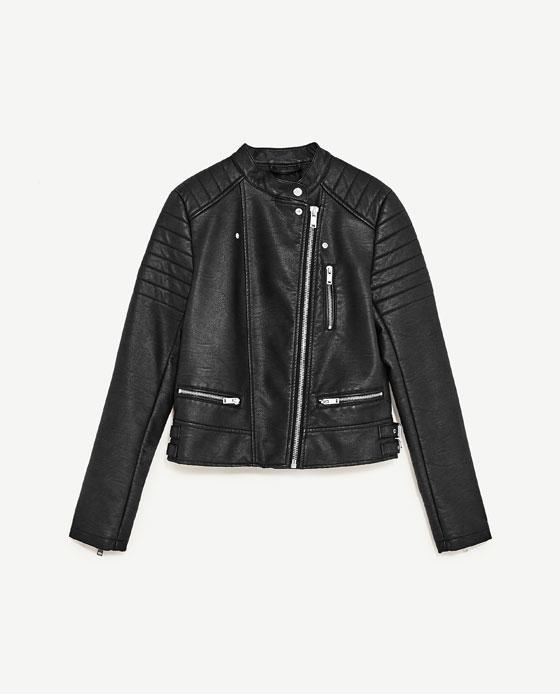 Zara Biker Jacket With Zips