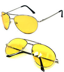 Missguided Yellow Lens Aviator