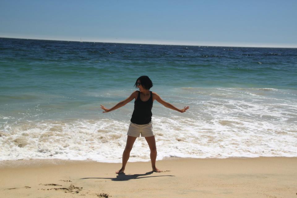 Tocando pela primeira vez no Oceano Pacífico