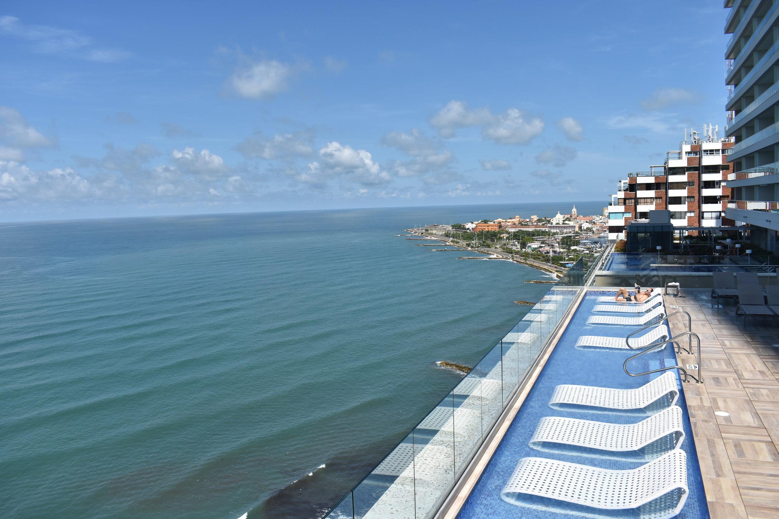 Colombia: vista do nosso hotel na região de Boca Grande