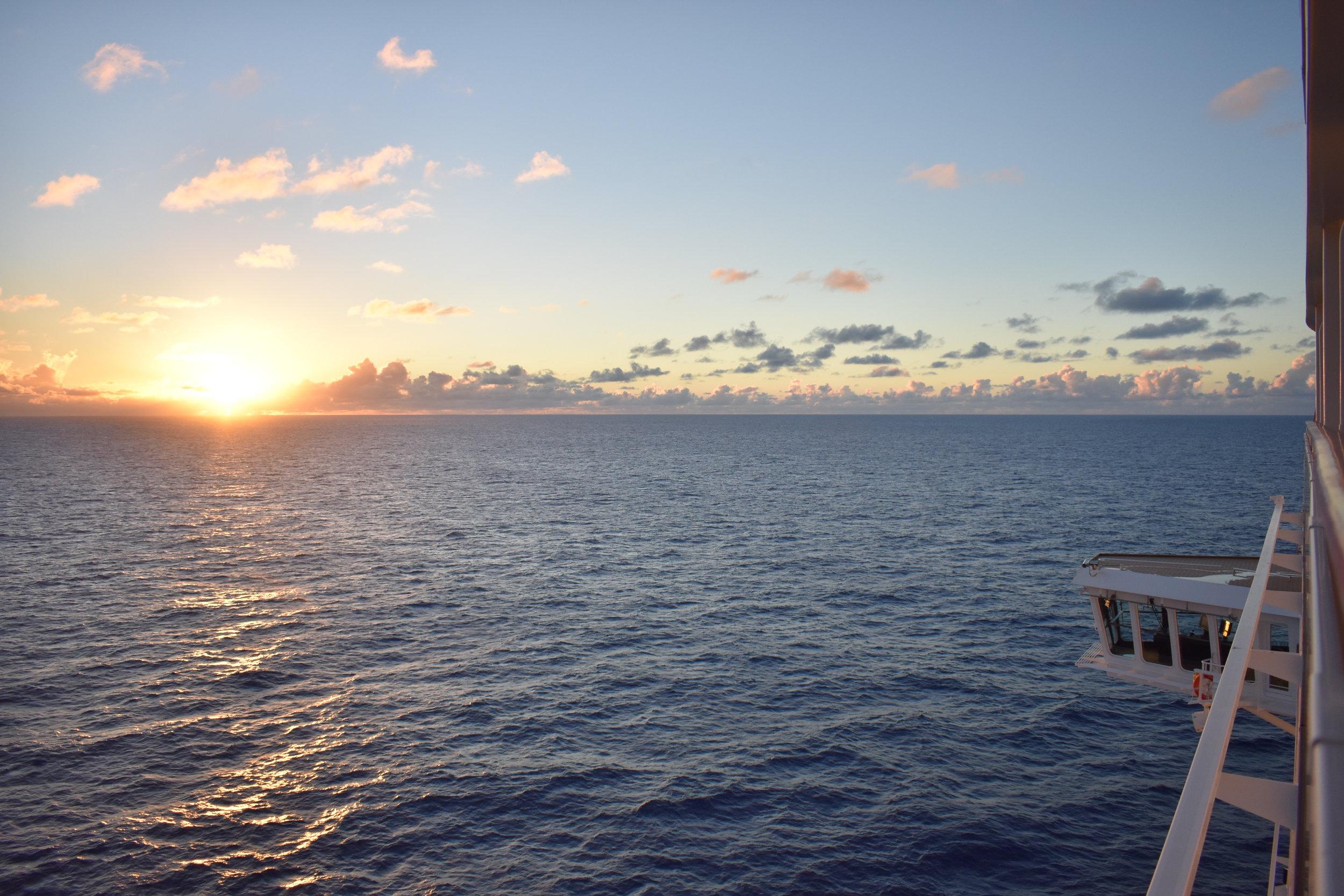Por do Sol em algum lugar no Caribe