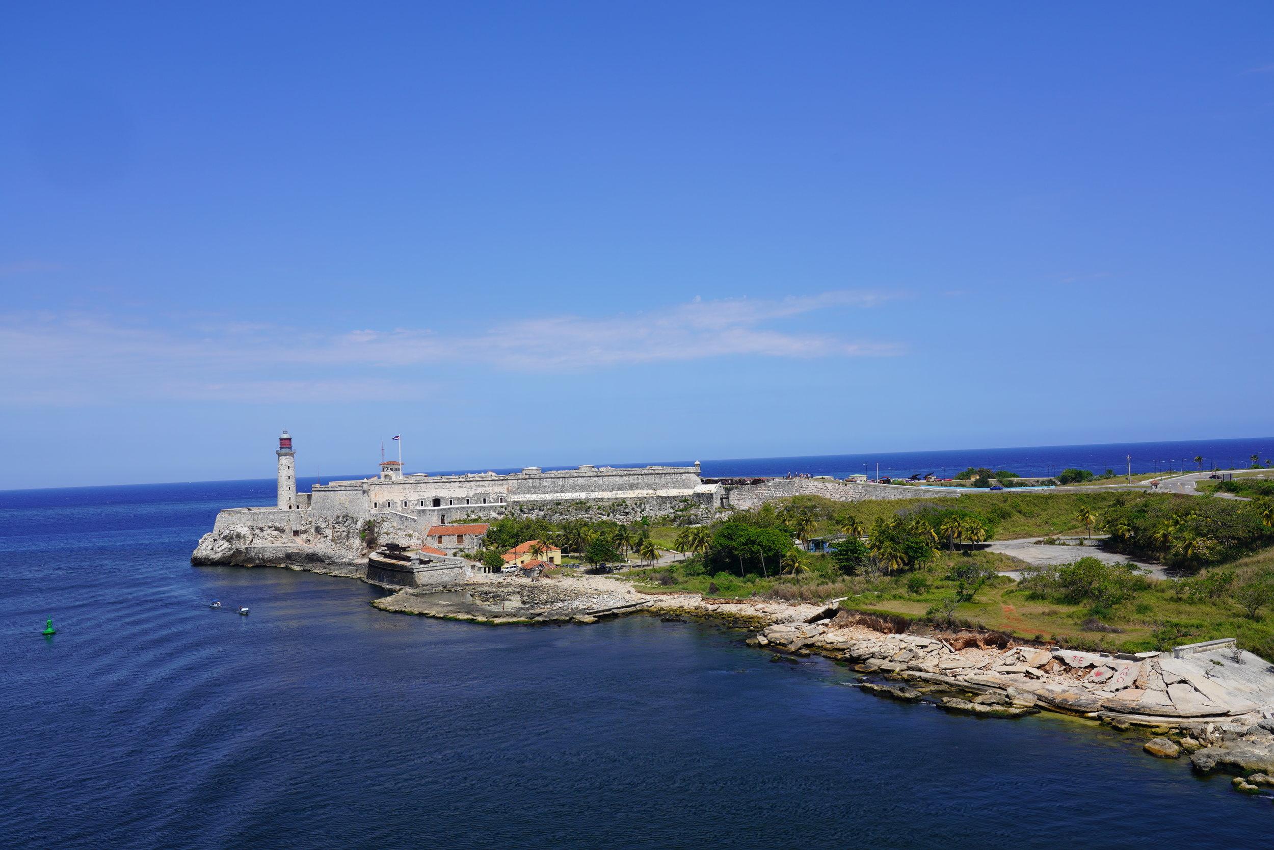 Porto de Habana em Cuba