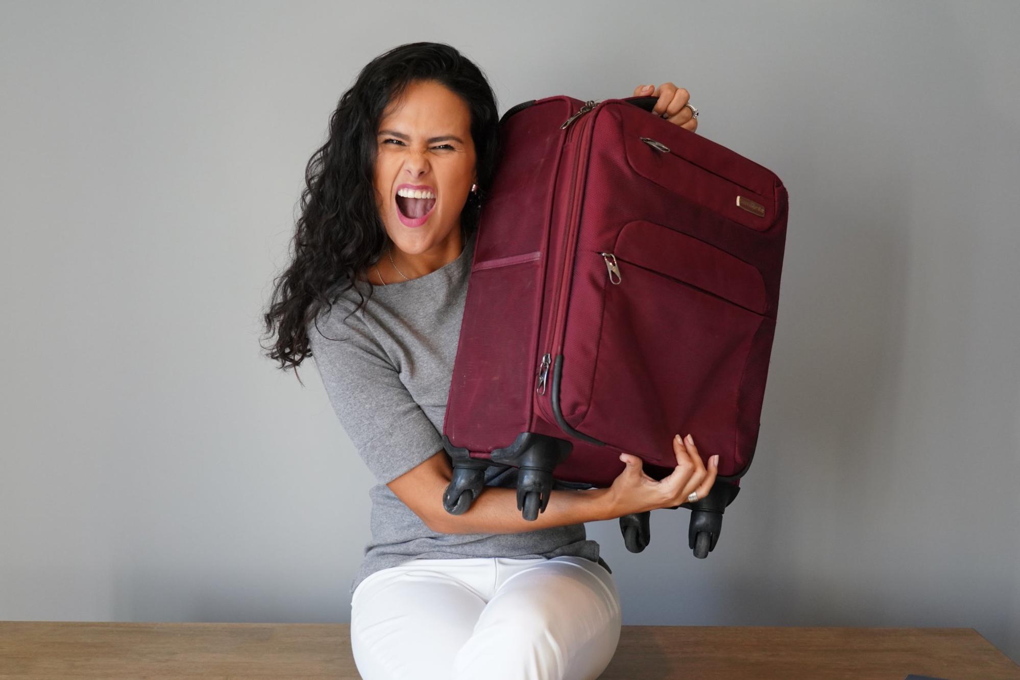 Manu Muniz, viajante de mala de mão.