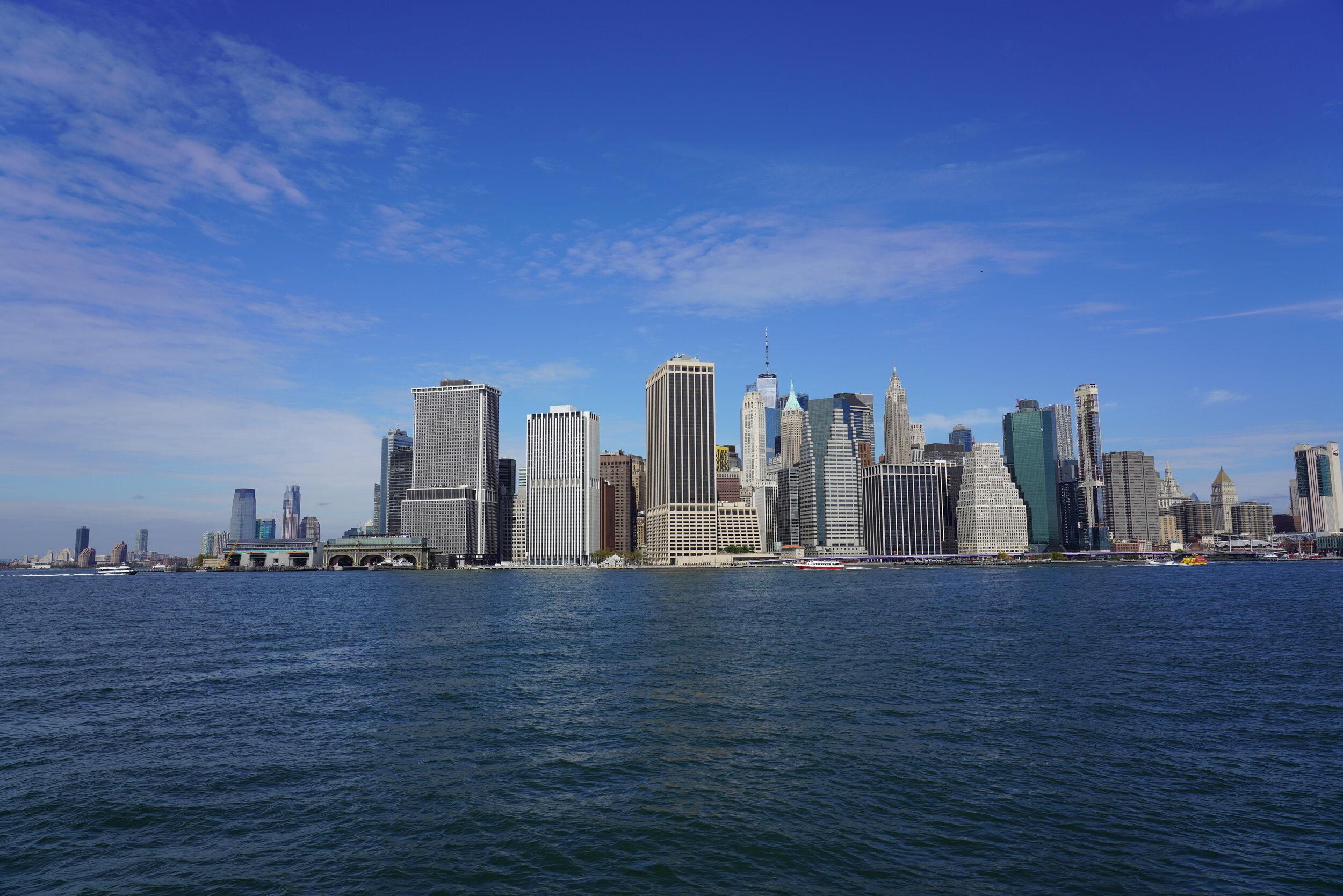 Passeio super legal até o Hunter's Point South Park, em Long Island City de Ferry Boat