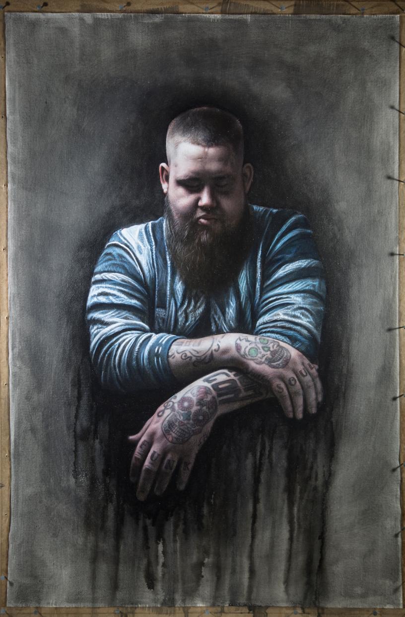 Original painting for Rag'n'Bone Man's 'Human' - more  here