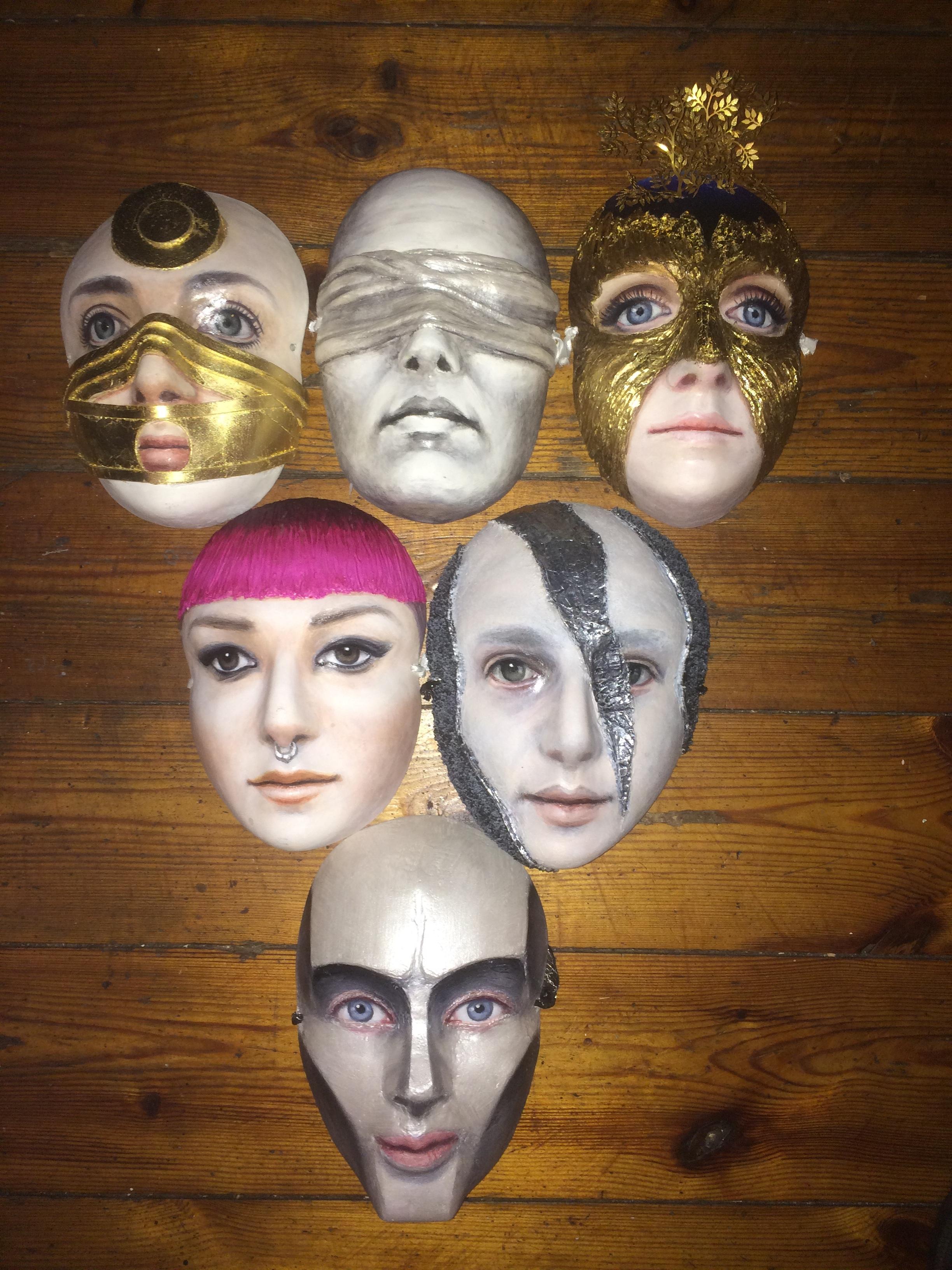 Character masks for Maya Jane Coles' 'Darkside'