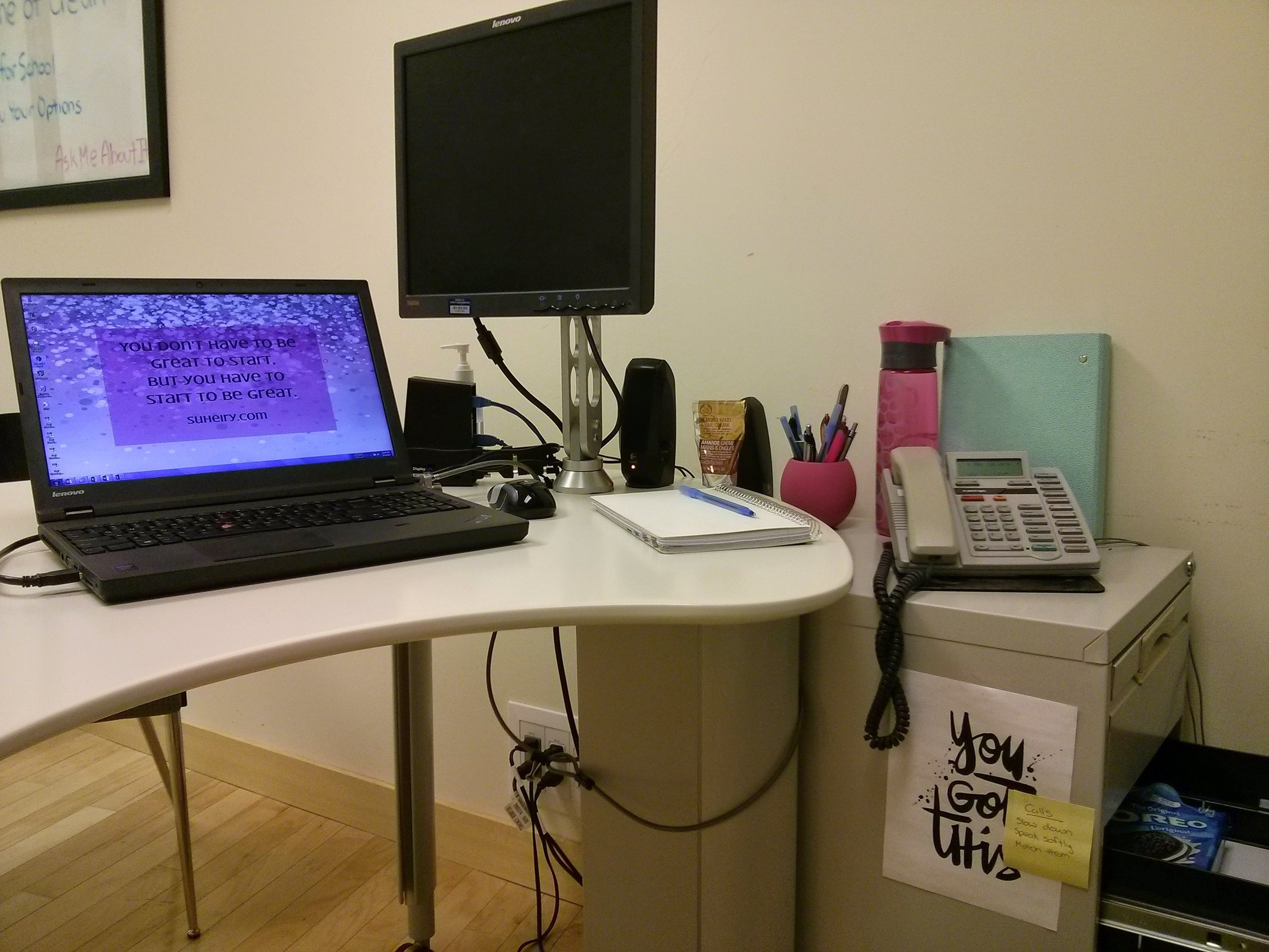 My workspace is changing - I am excited for this next step but also a little terrified.