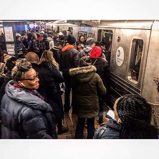 Morning Commute - Compliments of the MTA  I think everyone knows my feelings towards the MTA. No need to speak any further about the matter, but here are some photos from this mornings more than an hour long commute from the 125th Street station to the 42nd Street Times Square station. #mta #newyork #ny #bullshit #congestion