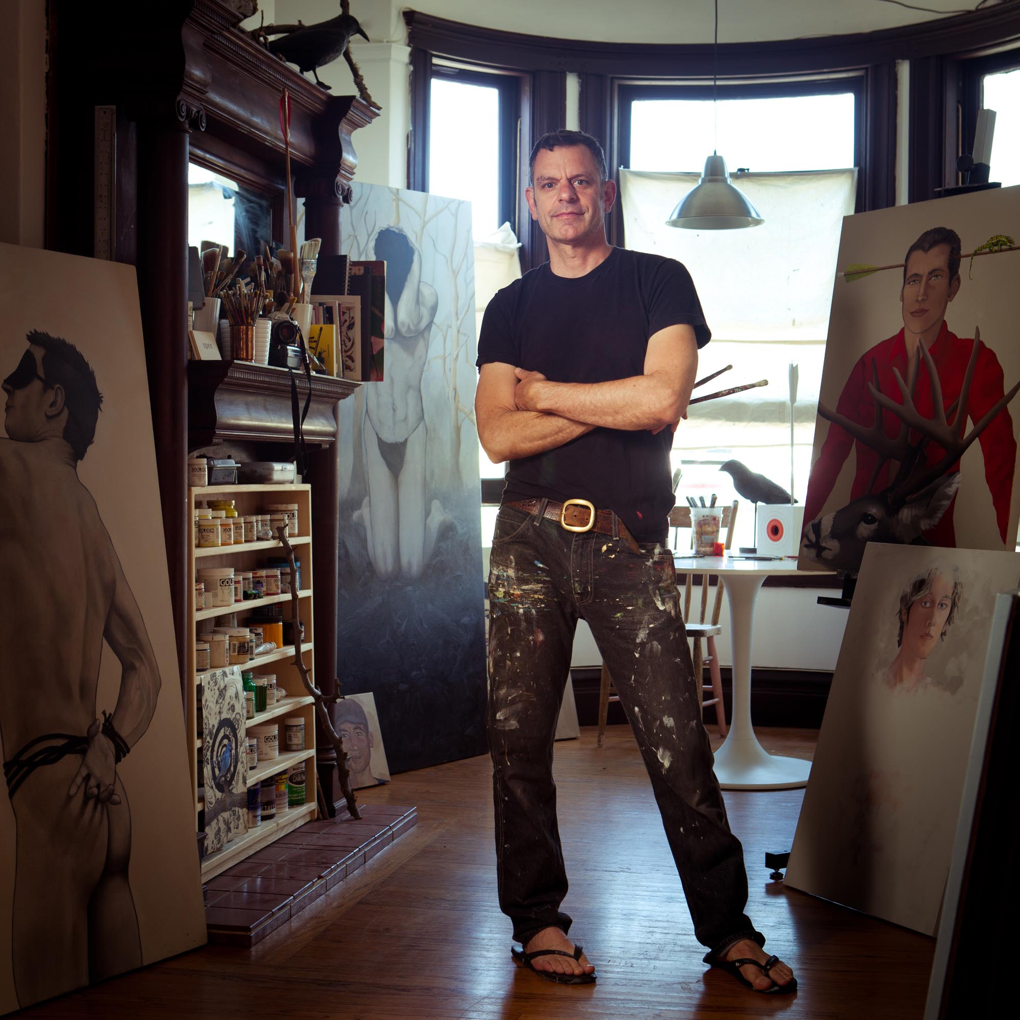 Bill Samios Painter in his San Francisco Apt/Studio photographed by Thomas Kuoh