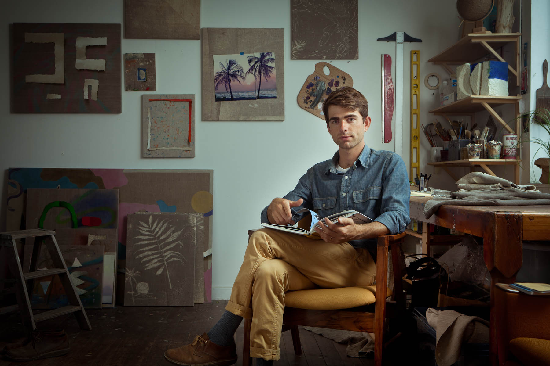 Bryson Gill: Painter/Photo Stylist in his SF Studio Above a Custom Pillow Factory in the Mission District