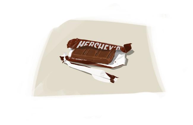 Hershey's chocolate is pretty industrial looking.