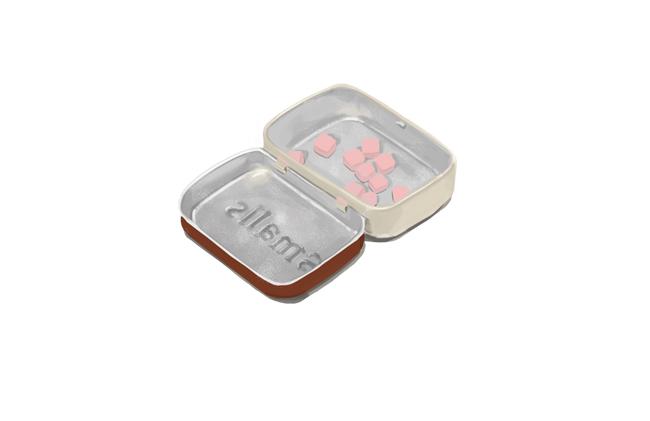 Cinnamon Altoids smalls. It's like a tiny tiny suitcase for mints.