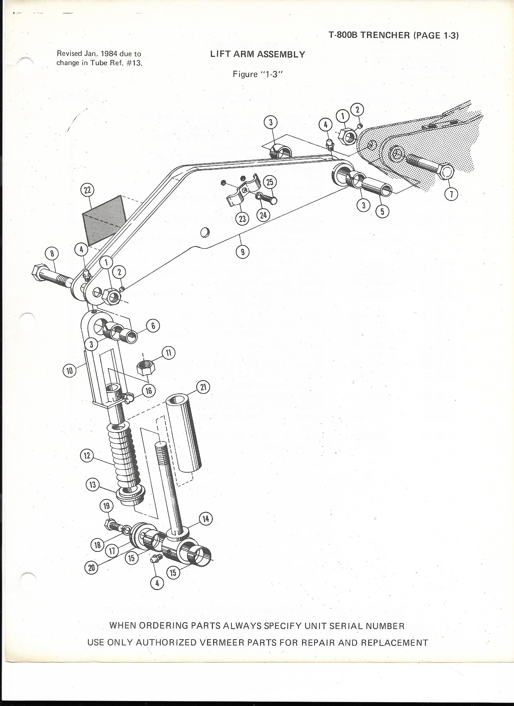 Vermeer T-800 B - LIFT CYLINDER ASSEMBLY
