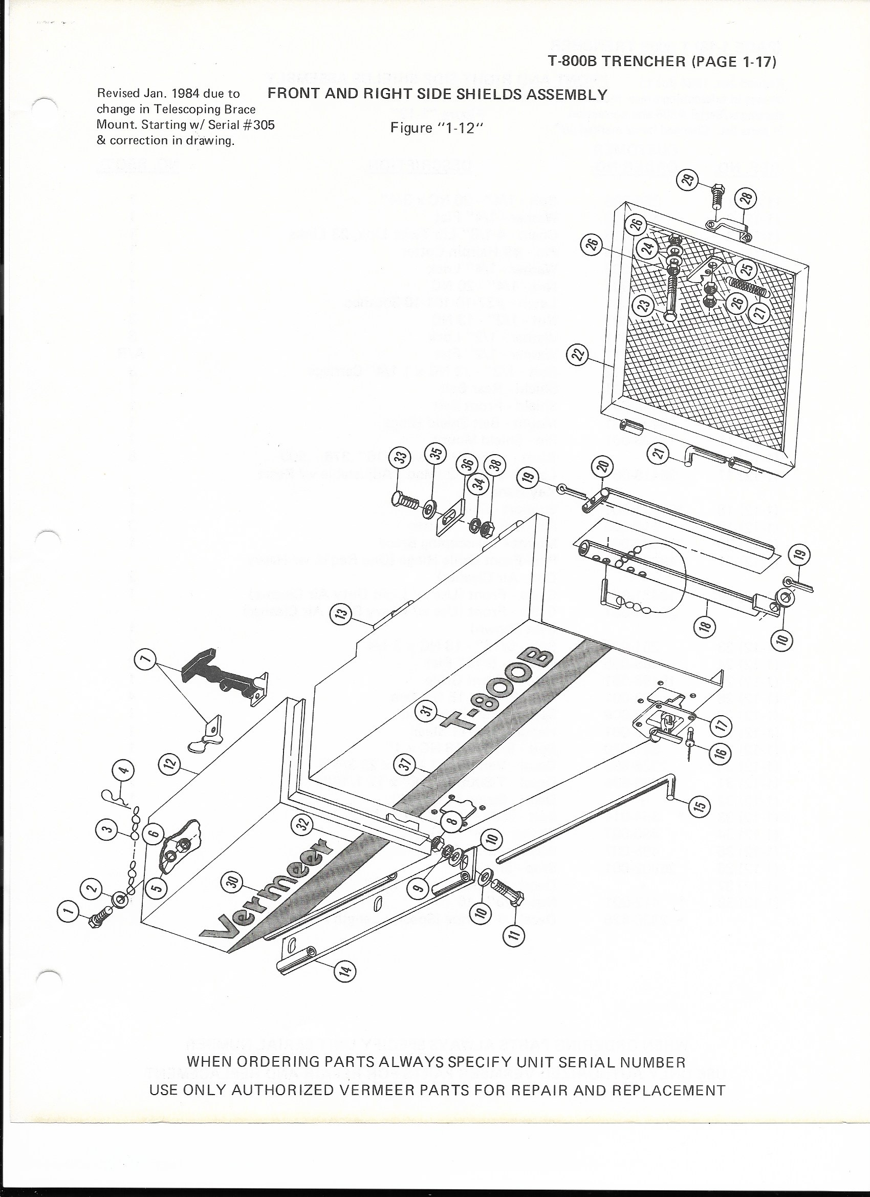VERMEER T-800 - FRONT AND RIGHT SIDE ASSEMBLY