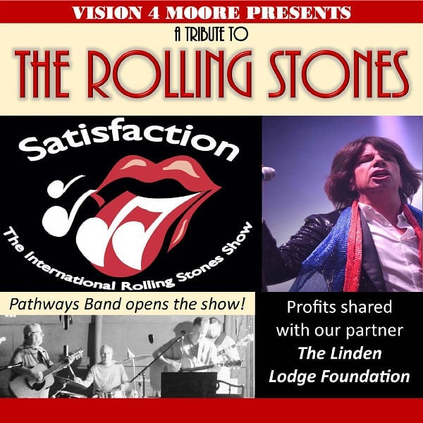 """""""Satisfaction"""" is coming to the Sandhills & we're giving away tickets! You can win 4 tickets to @vision4moore Rolling Stones tribute concert by letting us know who you'd take with you! Tag your friends, each tag = 1 entry! #vision4moore #rollingstones #tributeconcert #win #freetickets #chooselocalmc #clmc"""