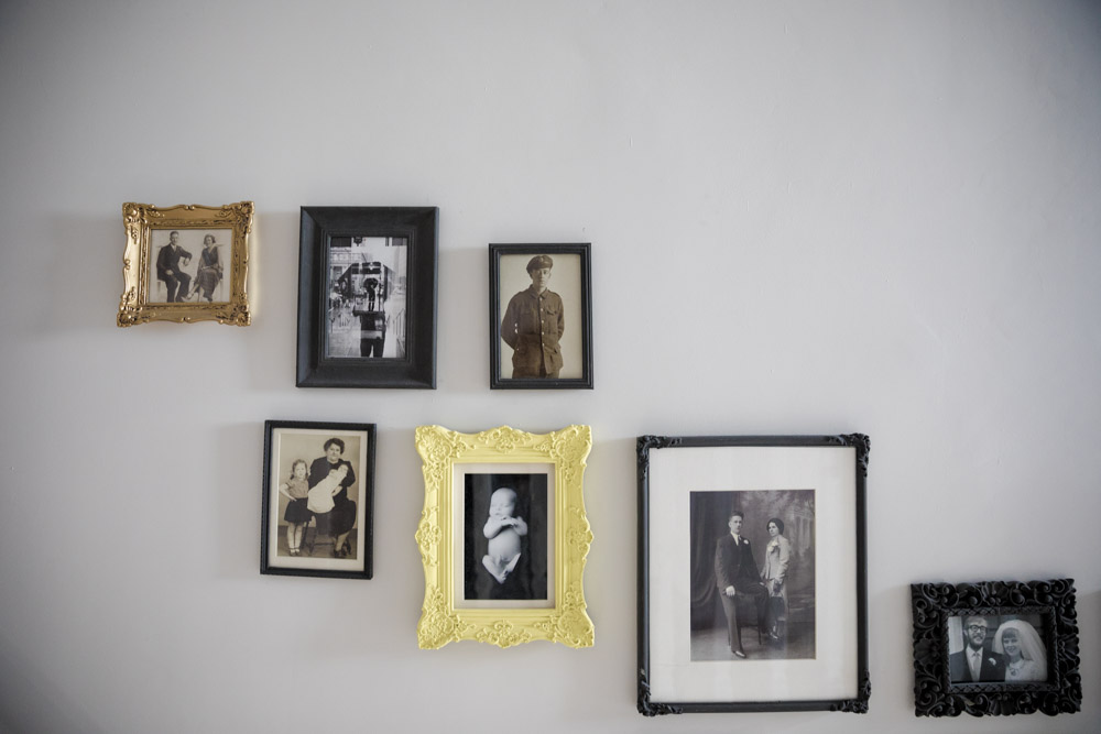 Gallery Wall Family Photos Black and White