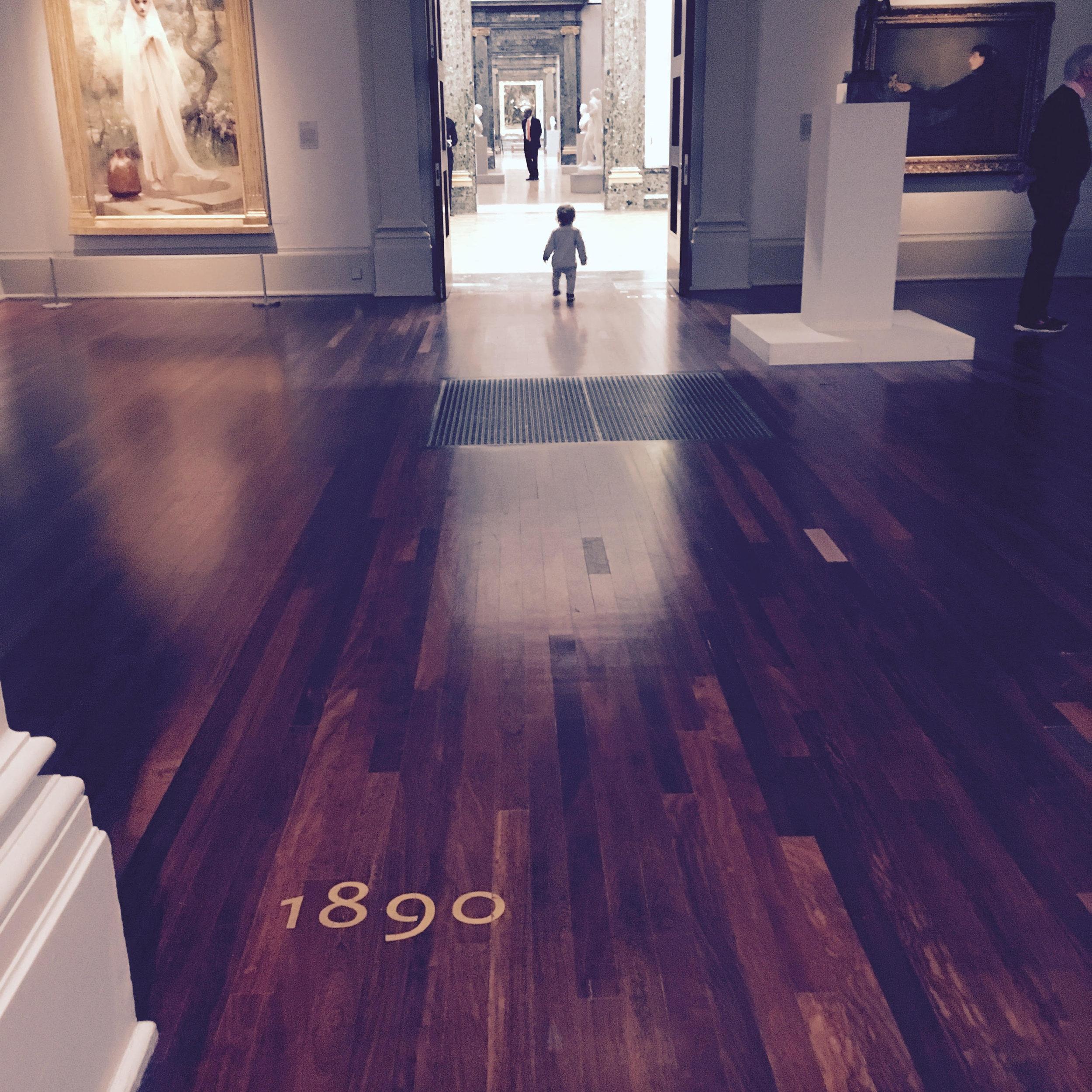 Tate Britain Millbank wandering toddler