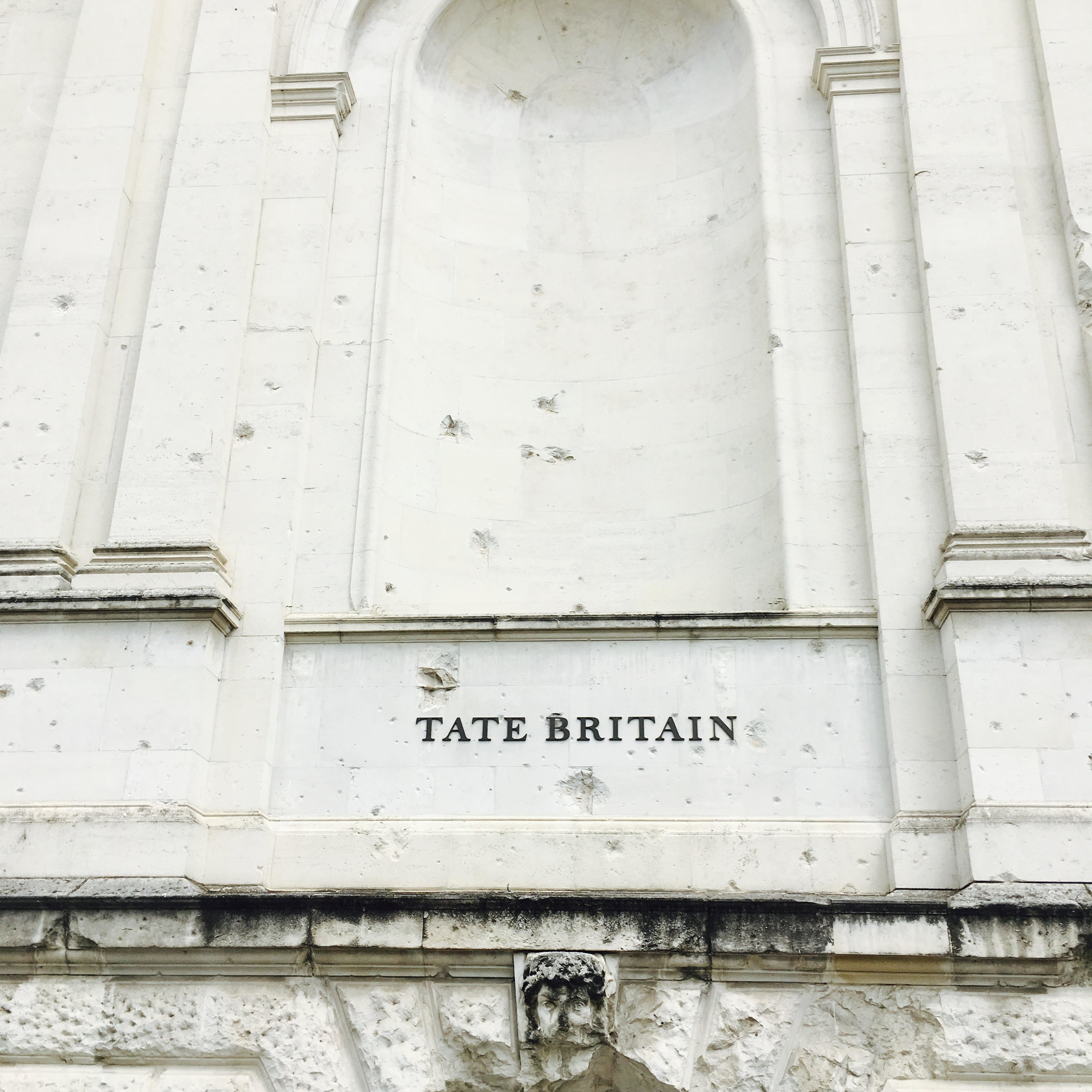 Tate Britain side entrance bullet holes