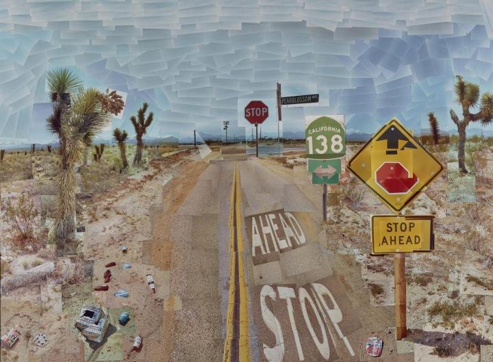 Pearblossom Hwy., 11-18 April 1986 by David Hockney