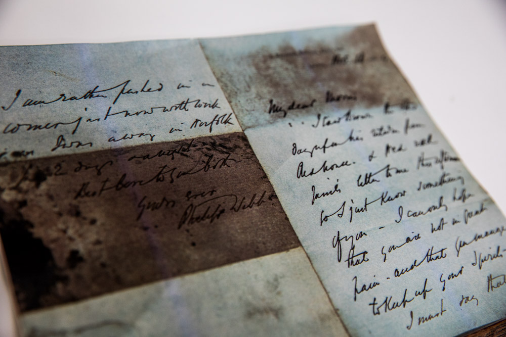 Letter discovered in 2005 from Webb to Morris