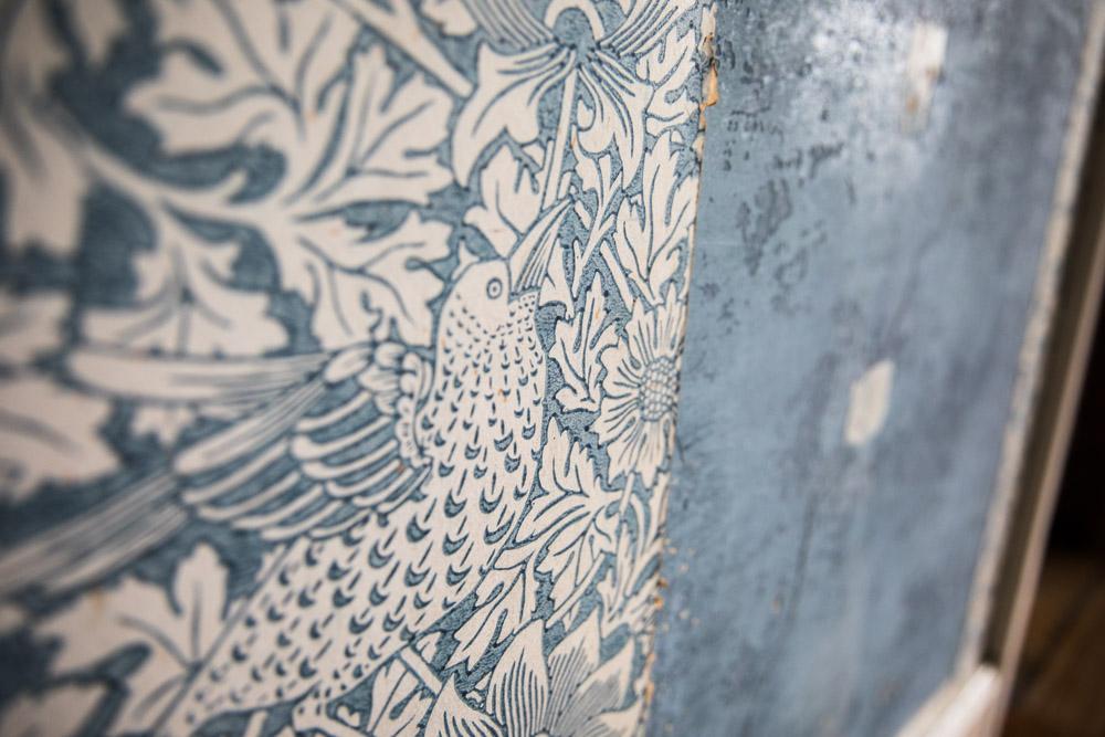 Children's bedroom wallpaper and revealed paint