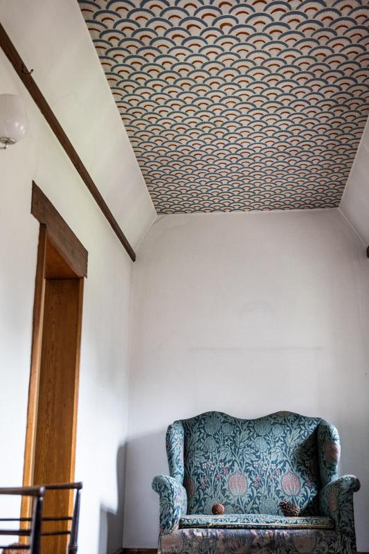 Repeating Pattern Landing Ceiling