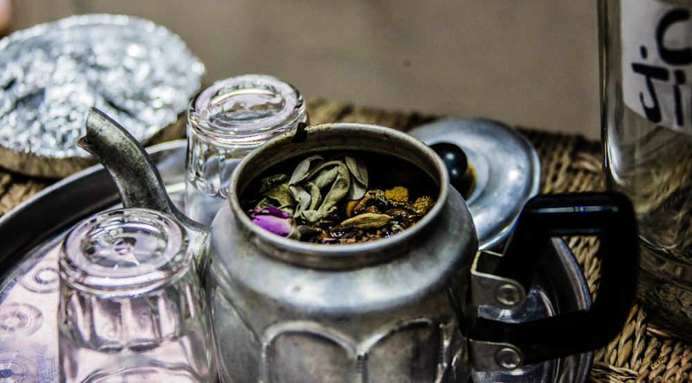 Tea with a market seller in Morocco