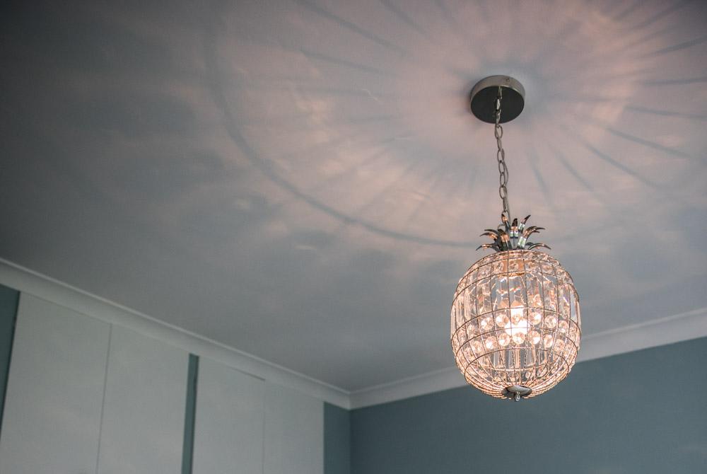 Pineapple glass lampshade