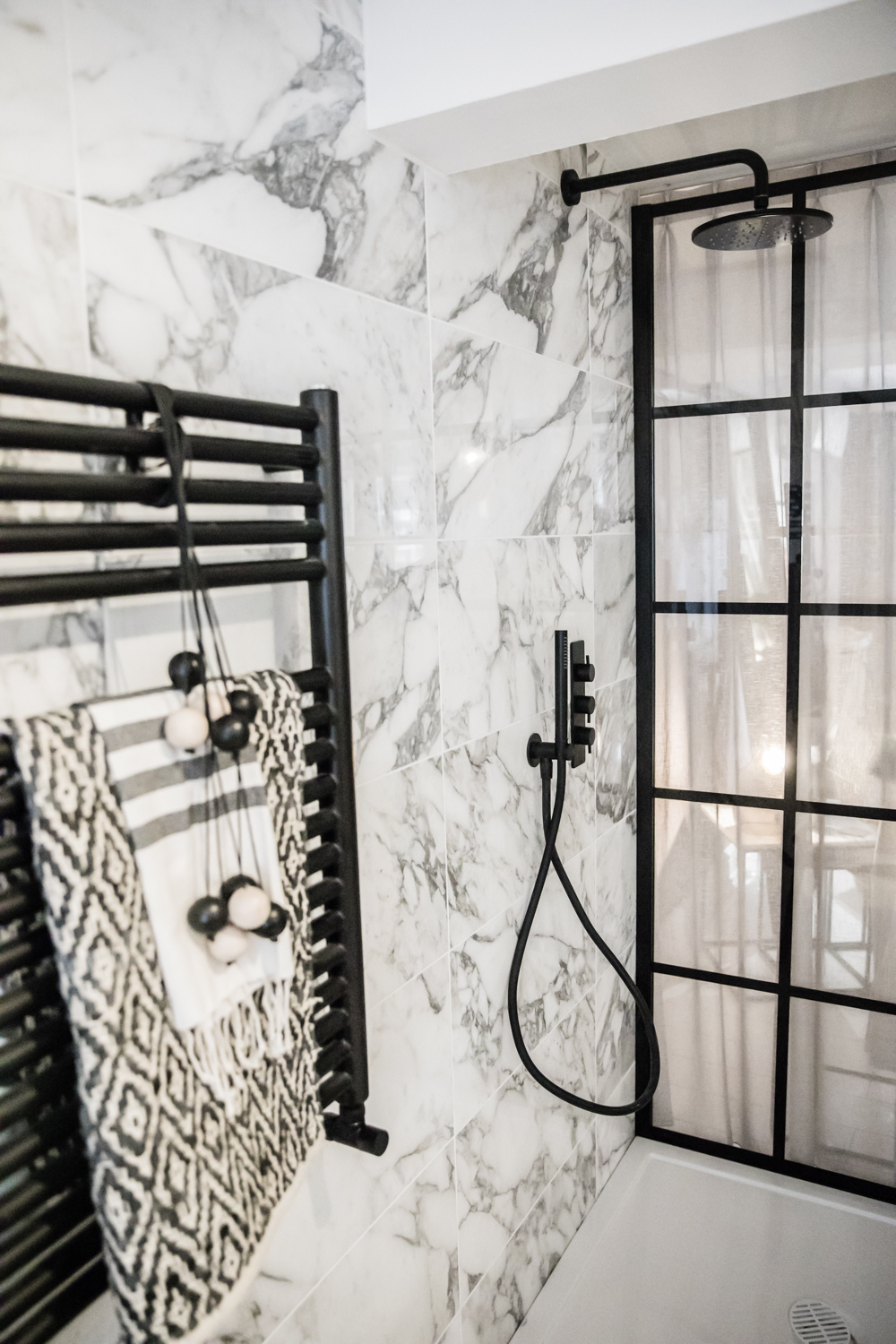 Swooning over the Crittall shower screen and black taps etc.