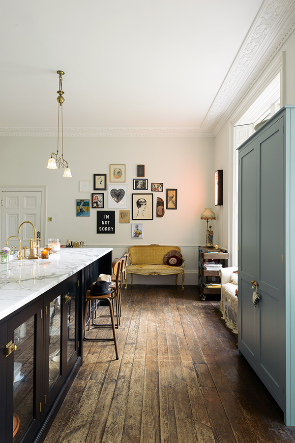 Pearl Lowe's rustic kitchen has been the conversation on everyone's lips on Instagram and what I love about this space is the lived-in feel. I hate nothing more than a show house where you can't see the personal touches or rough edges telling you about the people who live there. There will be much less white wall space in my kitchen but when you've got these stunning period features, you can do anything you want! Image credit:  DeVOL Kitchens