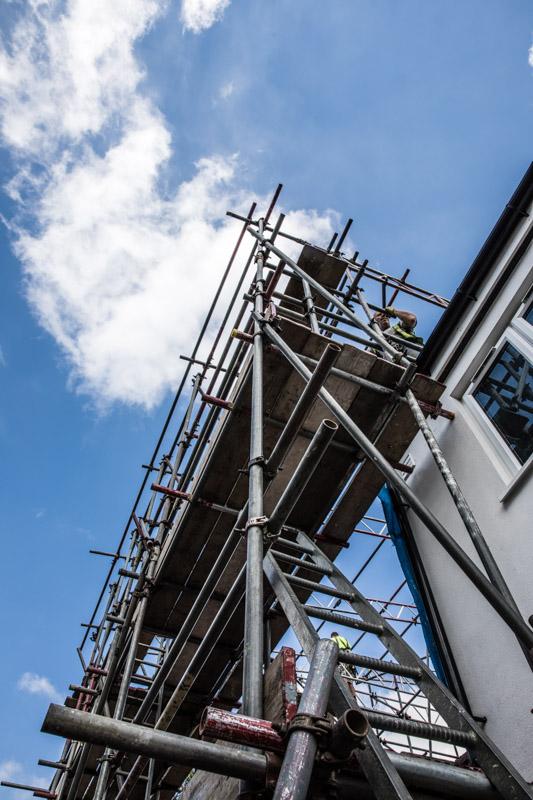 Renovation blue skies