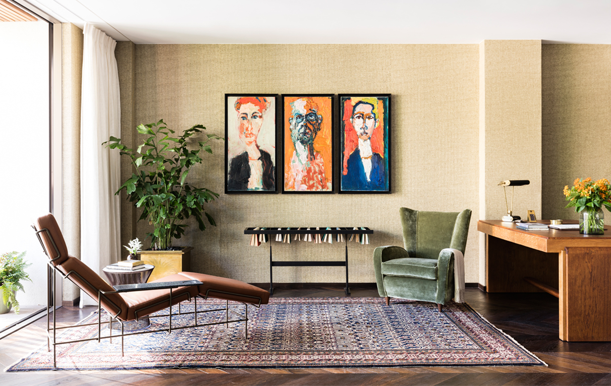 Sophie Ashby always uses art to create a new space. Photo credit  here .