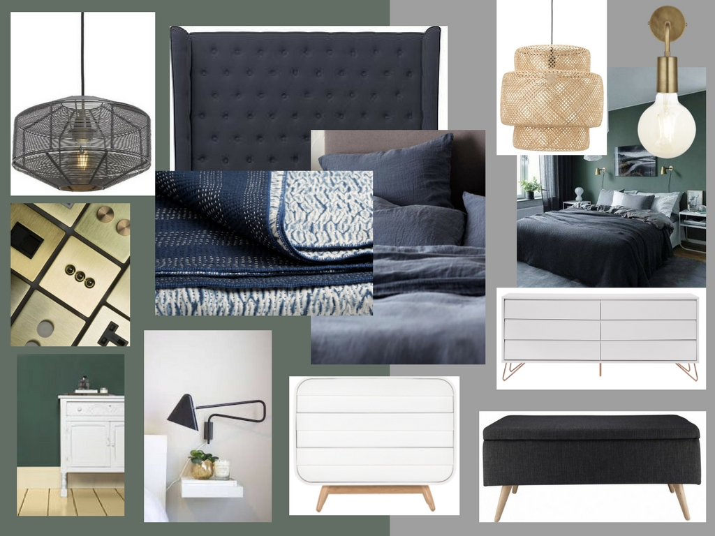 Bedroom mood board for a  Room Service  client