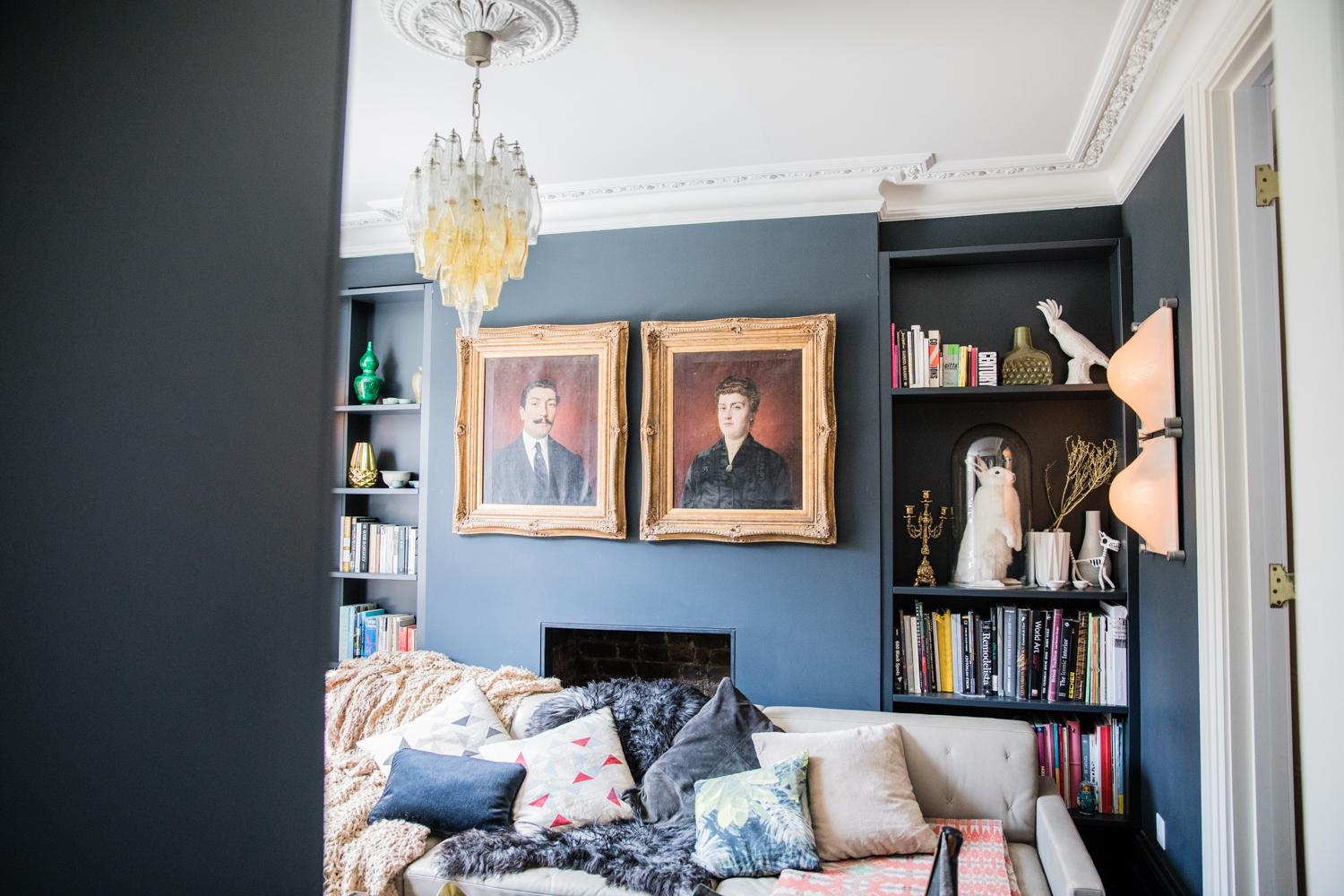 Walls painted  Railings  by Farrow and Ball