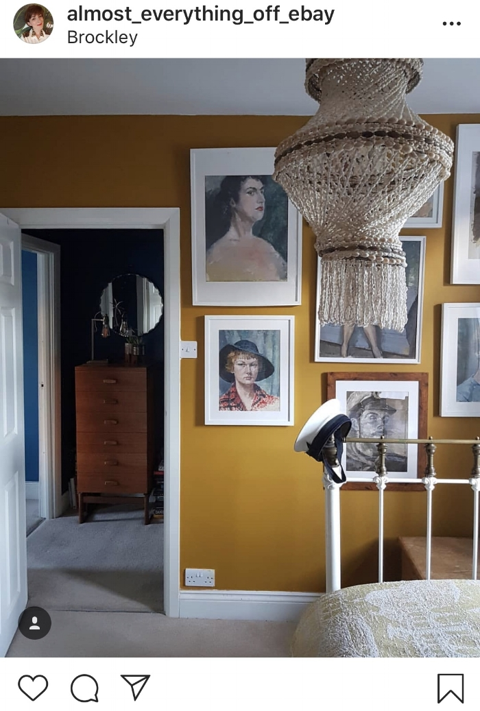Almost everything off eBay mustard yellow bedroom
