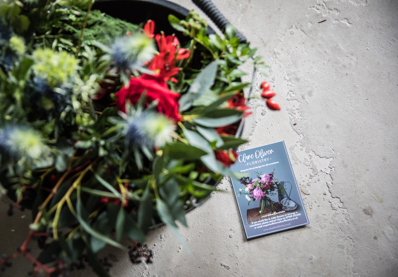 claire oliver floristry workshop prep