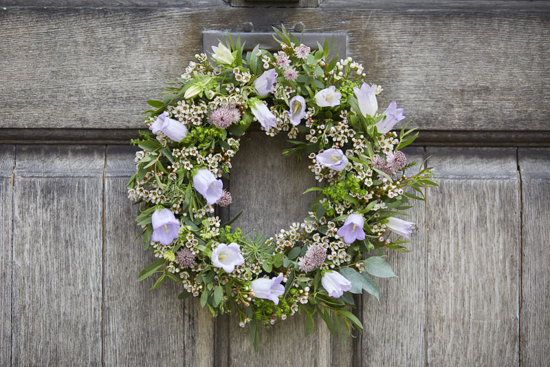 A seasonal wreath. What a great idea! Image belongs to Clare Oliver.