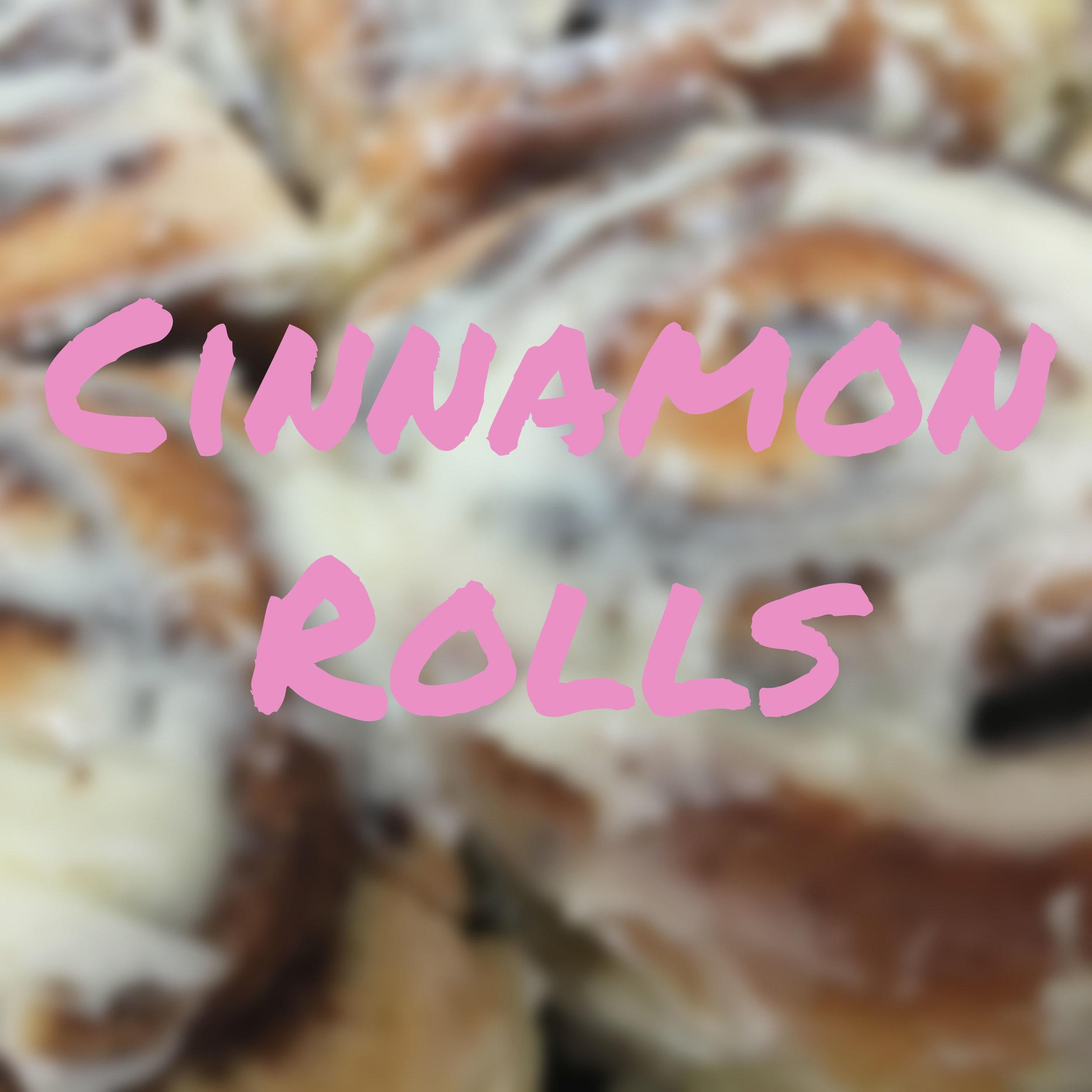 Cinnamon Rolls Section